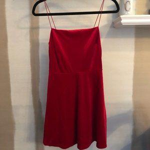Urban Outfitters Red Velvet Dress